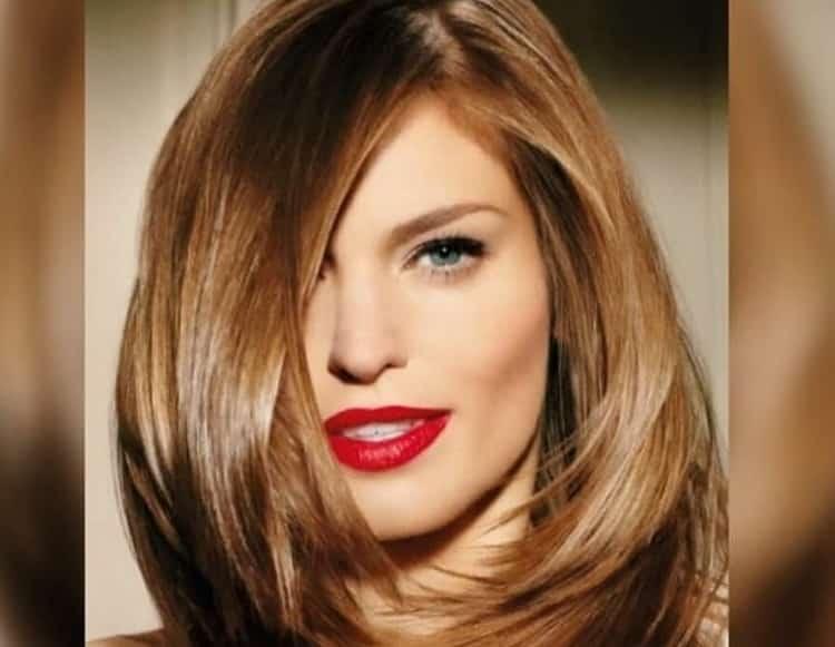 Укладка прически каскад на средние волосы