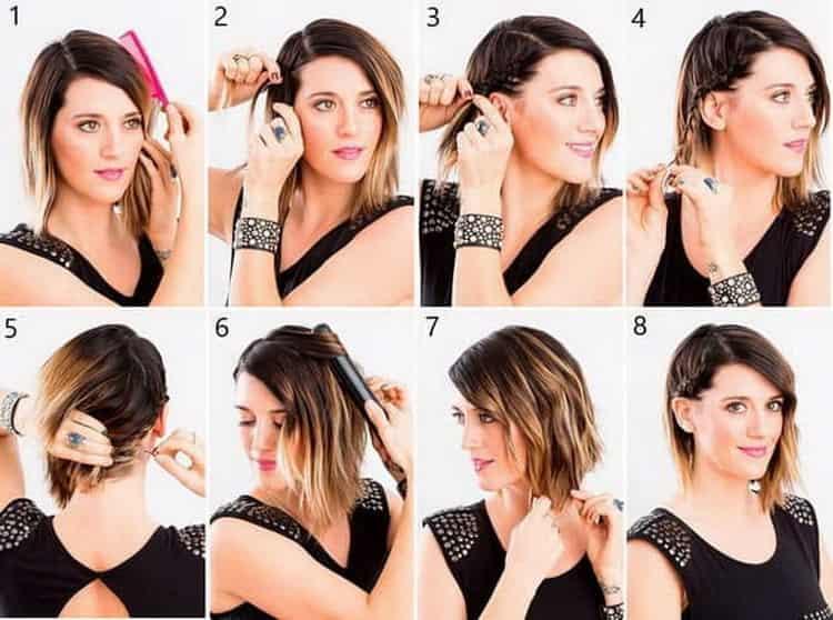Как делается стрижка лесенка на средние волосы фото