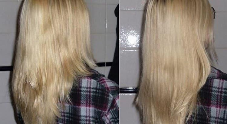 Уже после нескольких применений вы увидите, что волосы станут более блестящими.