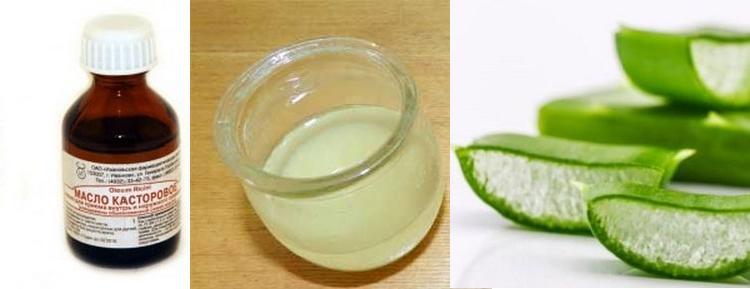 Хорошие результаты дает не только масла для волос из касторового масла и водки, но также с добавлением кашицы алоэ и лукового сока.