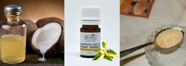 если хотите сделать домашнее ламинирование волос, можно воспользоваться смесью кокосового масла и желатина.