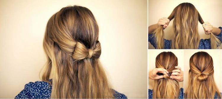 Если вы хотите сделать прическу с распущенными волосами в школу, обратите внимание на такой вариант.