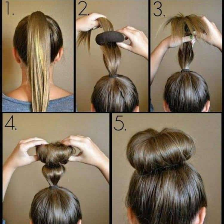 А такой вариант прически в школу подходит и на средние волосы.
