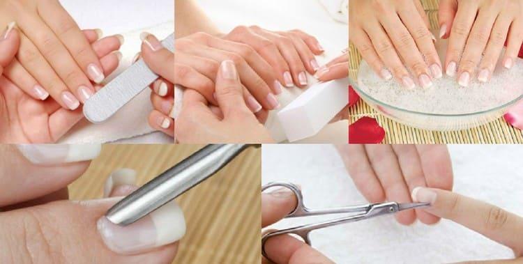 Перед тем как делать бордовый маникюр, приводим в порядок ногти.