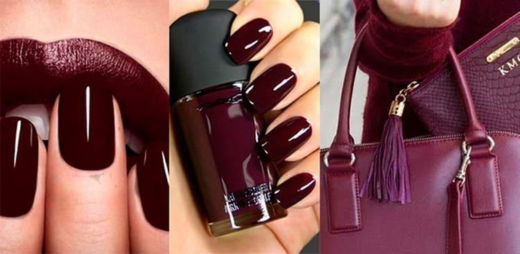 Помните, что бордовый цвет на ногтях должен сочетаться с одеждой, помадой или аксессуарами.