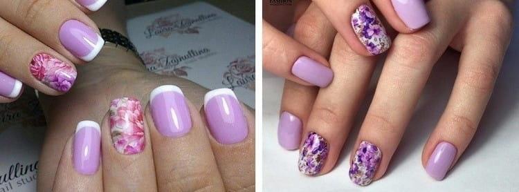 Используя фиолетовый, можно придумать различные узоры.