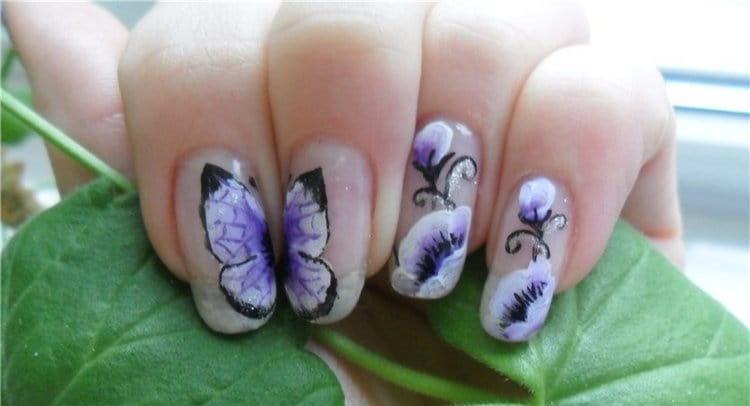 Узнайте, как делать маникюр бабочки.