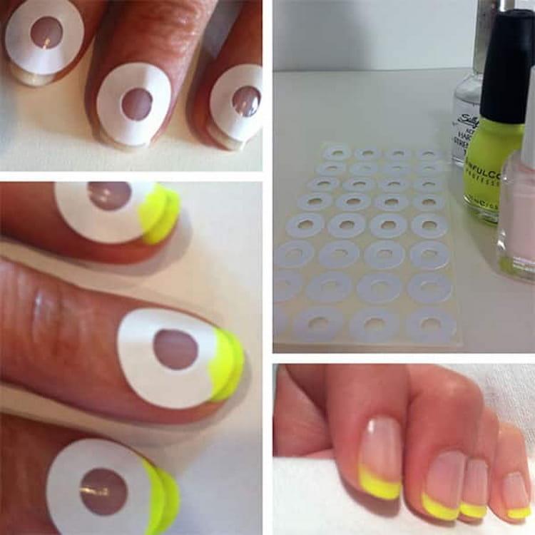 Как сделать бледно желтый маникюр