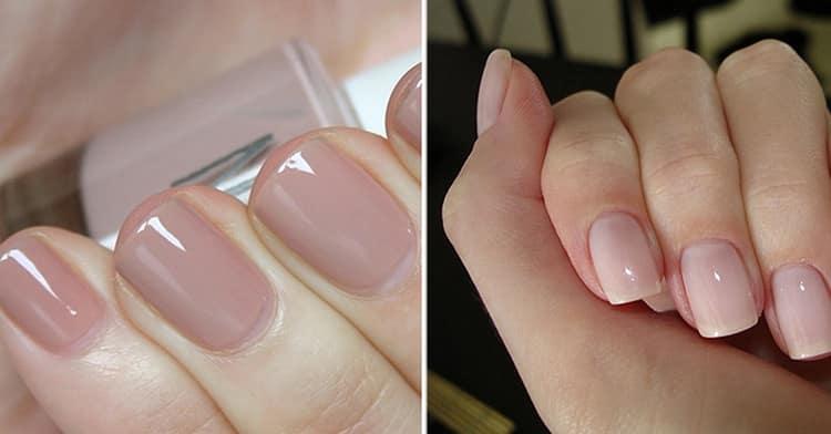 очень удачно смотрится нюдовый маникюр на коротких ногтях.