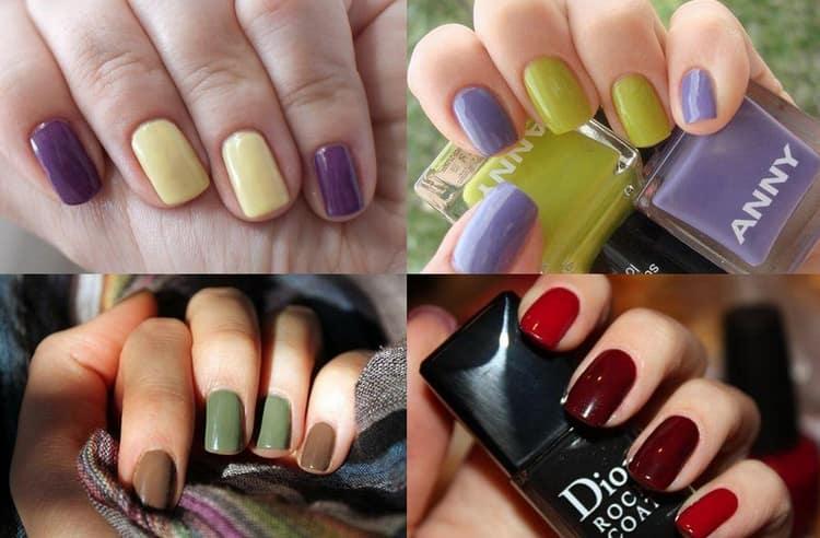 насыщенные цвета хорошо выглядят на коротких ногтях.