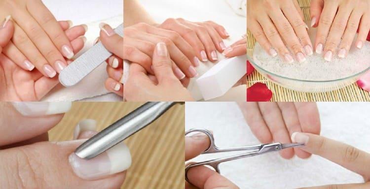 Посмотрите, как делать обрезной маникюр пошагово.