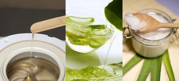 Парафин с соком алоэ и кокосовым маслом прекрасно подойдет для сухой кожи.