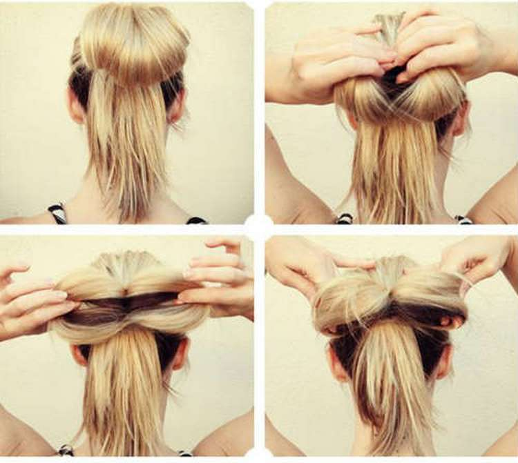 Такую прическу на день рождения можно делать на средние и длинные волосы.