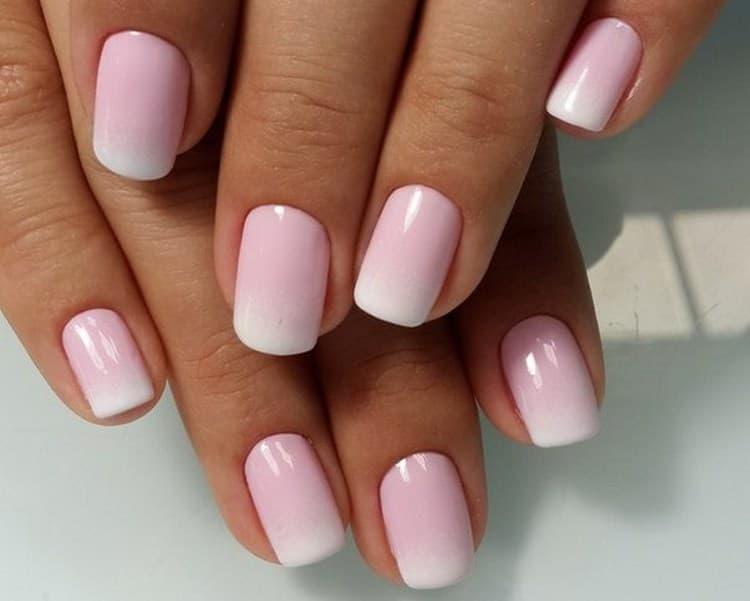 нежный розовый красиво выглядит в градиенте.