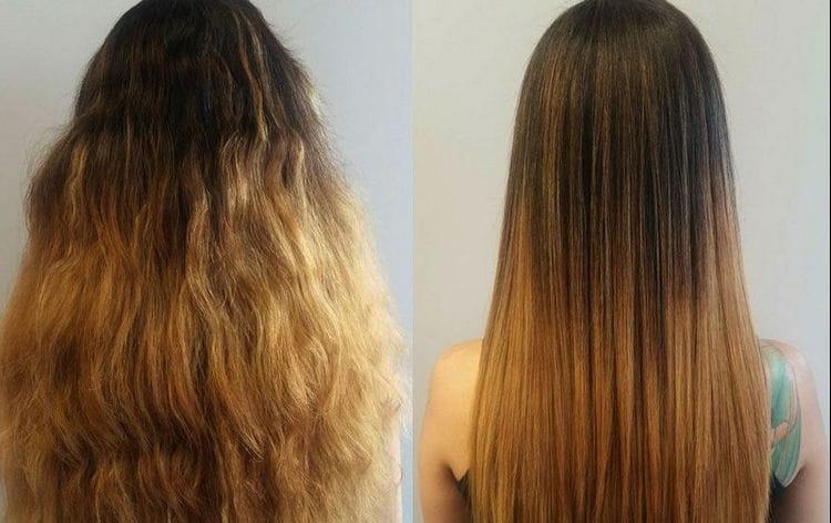 Вот такой результат дали витамины на секущихся и сухих волосах.
