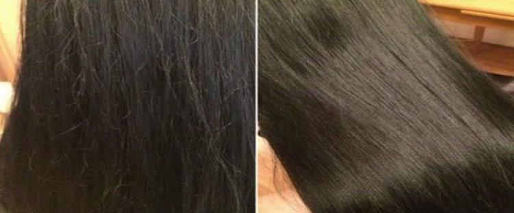 Такие комплексы значительно улучшают структуру волос, делают их гуще.