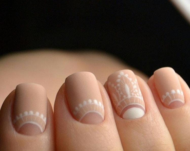дизайн ногтей лунный маникюр