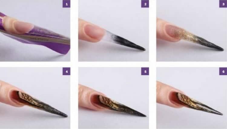 Самый красивый маникюр на острые ногти с фото и видео