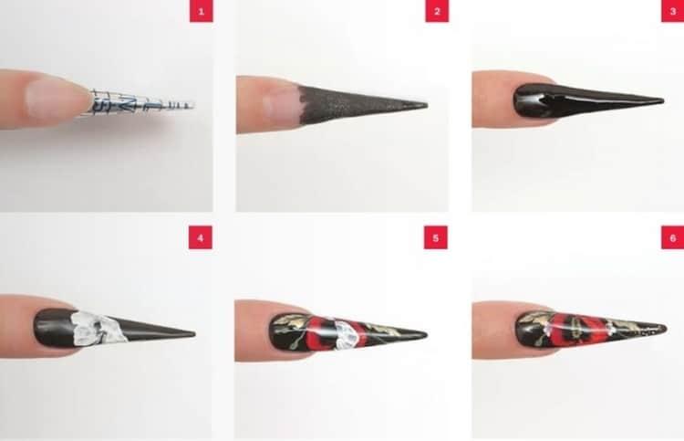 Как сделать красивый маникюр на острые ногти
