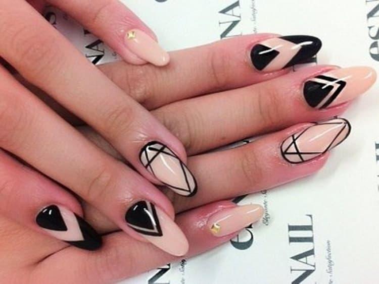 Как делать маникюр рисунок на ногтях, фото