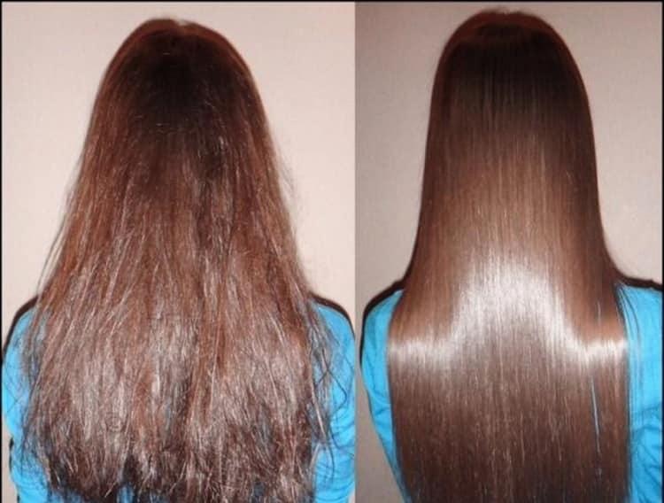 Эффект от маскидля волос с льняным маслом