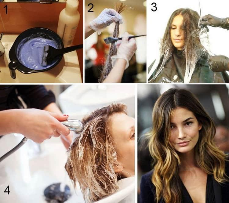 Как сделать омбре на темные короткие волосы, смотрите на фото
