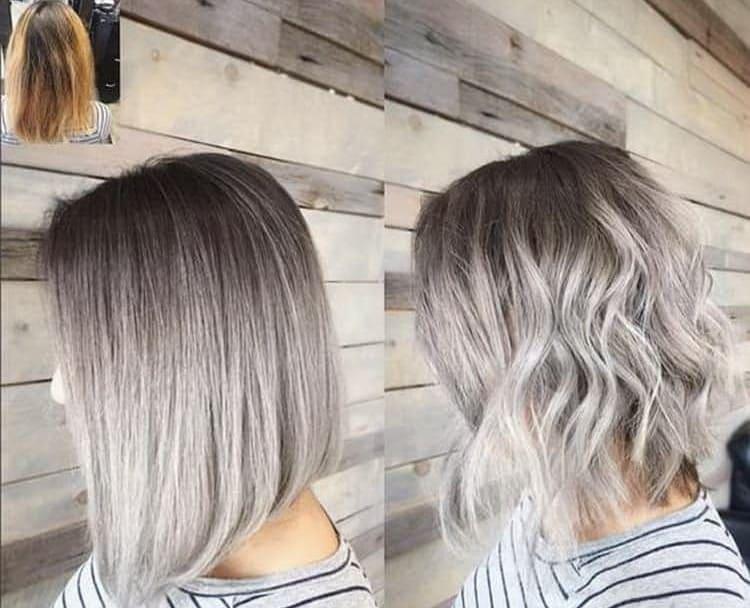 Как сделать омбре на короткую стрижку на темные волосы