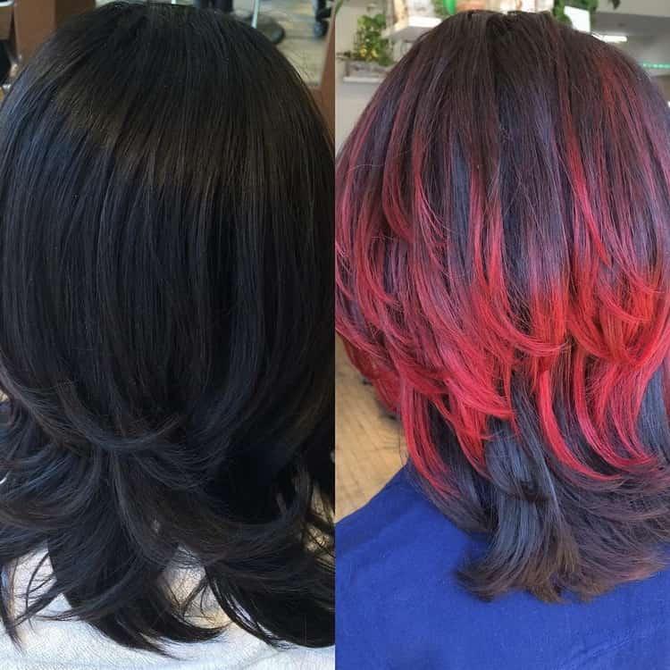 Как сделать окрашивание омбре на короткие темные волосы, смотрите фото