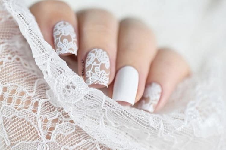 Свадебный маникюр для невесты.