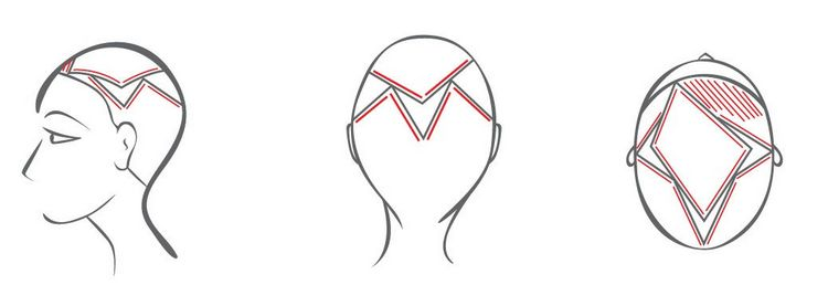 Очень важно правильно разделить волосы на зоны.