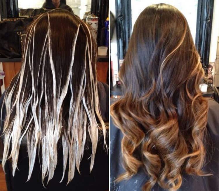 Посмотрите видео о том, как сделать балаяж на темные волосы.