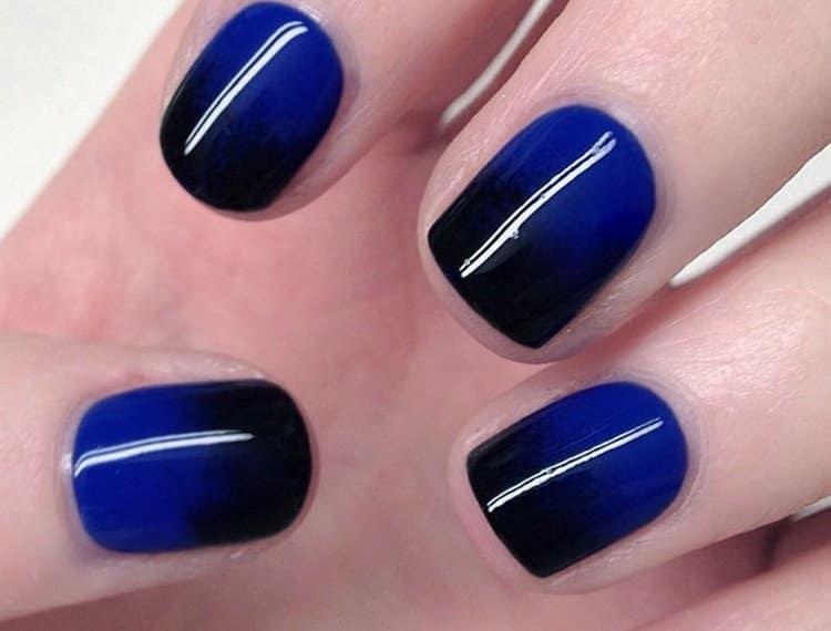 Черно-синий градиент смотрится красиво.