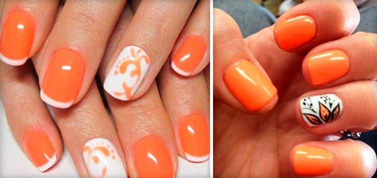 А вот фото летнего дизайна коротких ногтей.