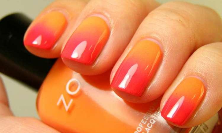 А вот роскошный яркий дизайн на короткие ногти.