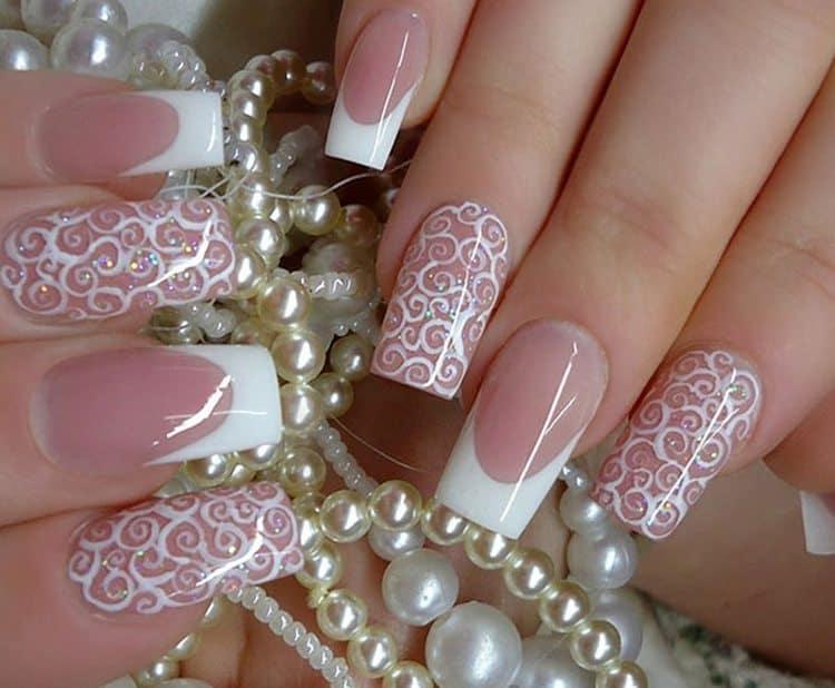 нежнейшие узоры на ногтях для невесты!