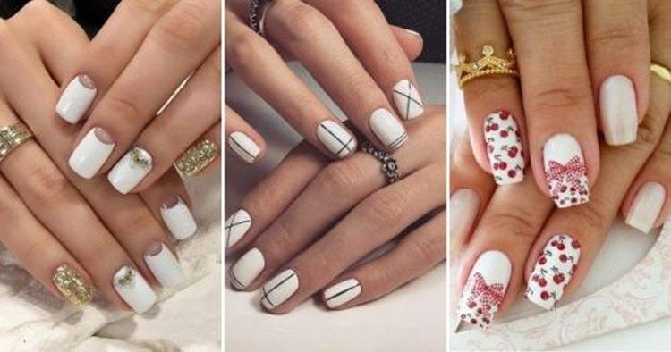 Поговорим об актуальном дизайне ногтей белым лаком.