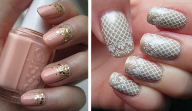 Такая сеточка на ногтях выглядит очаровательно.