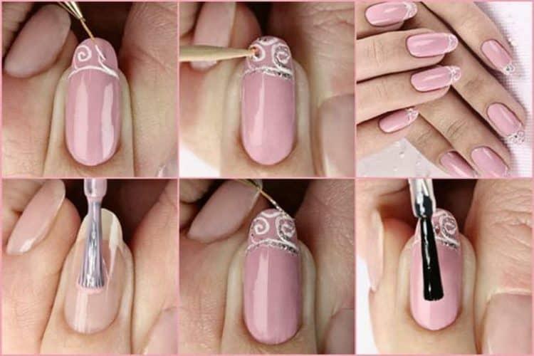 Посмотрите, как в домашних условиях сделать дизайн ногтей с бежевым лаком.