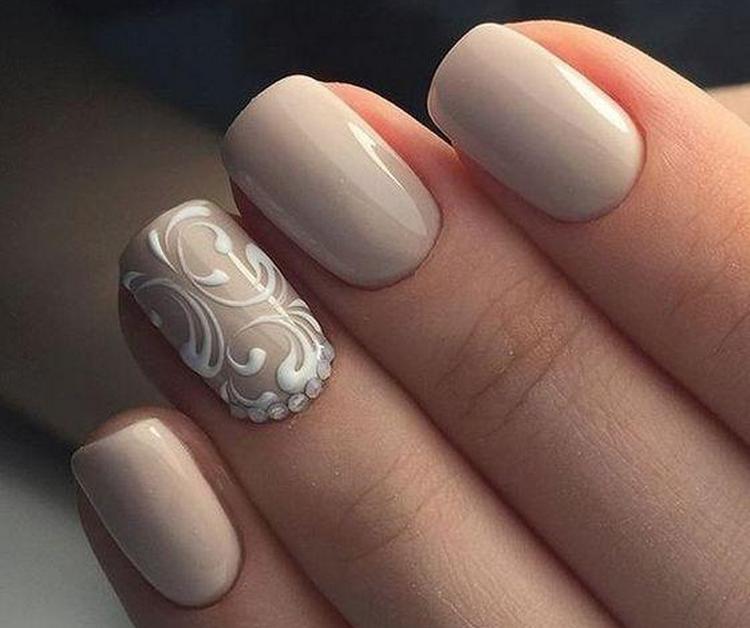 Шикарное фото дизайна ногтей бежевого цвета!