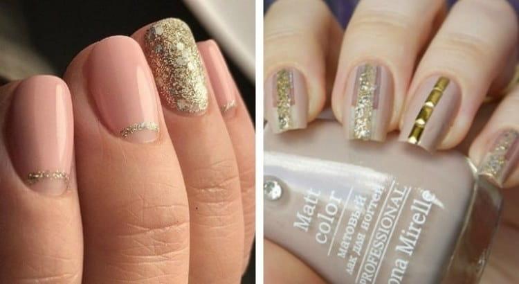 Можно также выделить золотом акцентный палец.