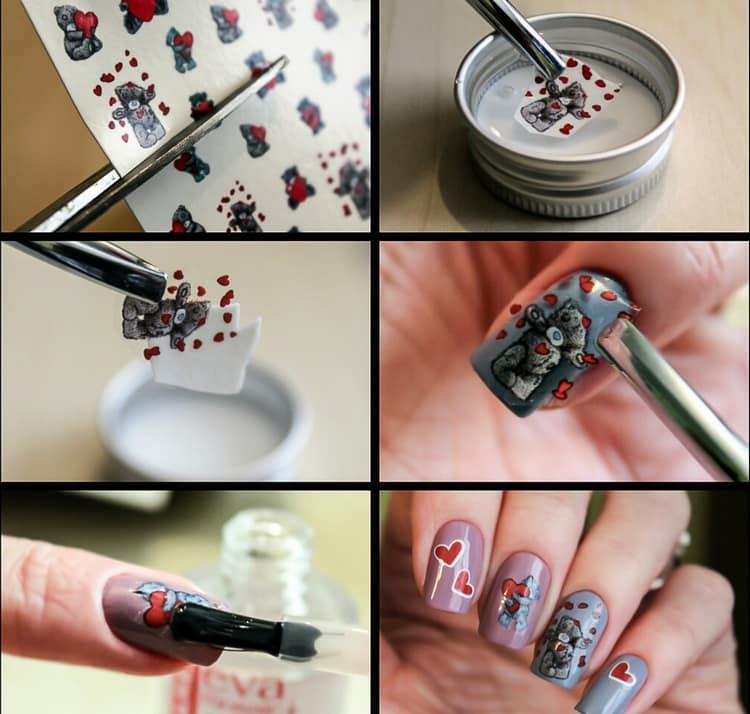 Посмотрите, как наклеить такие наклейки на ногти.
