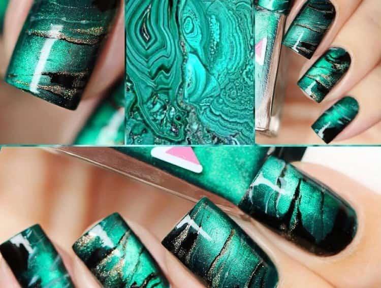 Посмотрите также видео о дизайне ногтей по мокрому гель-лаку.