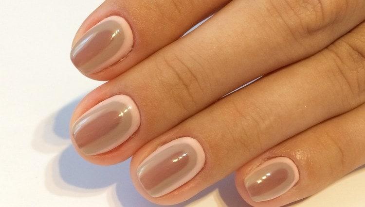 А вот простой дизайн ногтей гель-лаком для начинающих.