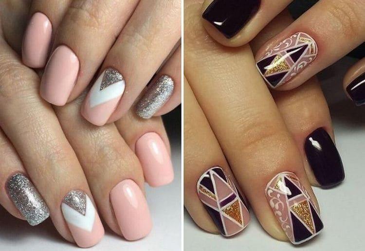 Посмотрите на фото новинки дизайна ногтей геометрия.