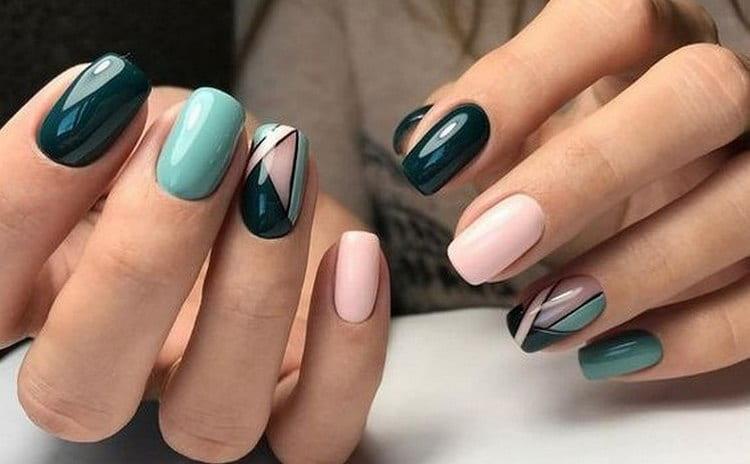 Дизайн ногтей в стиле геометрия выглядит очень эффектно.