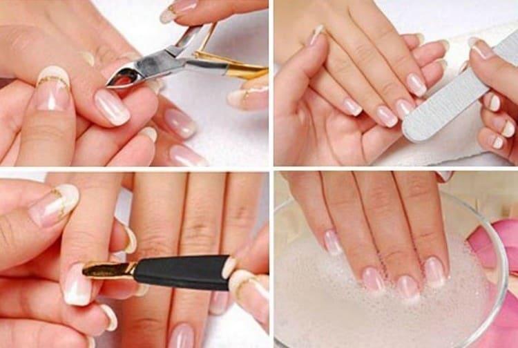 Перед тем как красить ногти, обязательно приводим их в порядок.