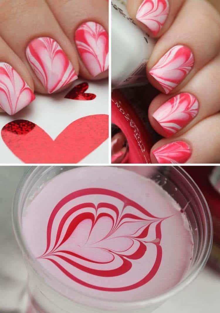 Можно сделать красивый водный розовый дизайн.