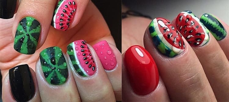 А вот фото летнего дизайна ногтей розового цвета.