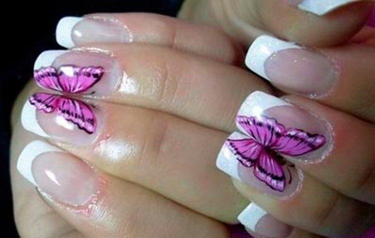 Если соединить пальцы, бабочка соединит крылышки.