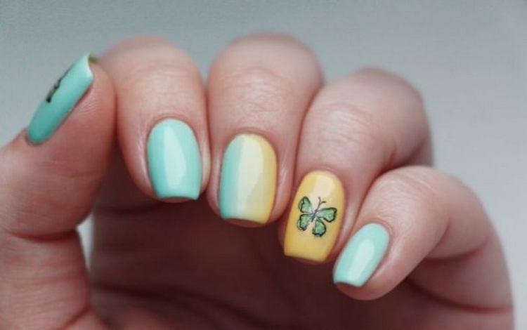 Посмотрите на фото новинки дизайна ногтей с бабочками.